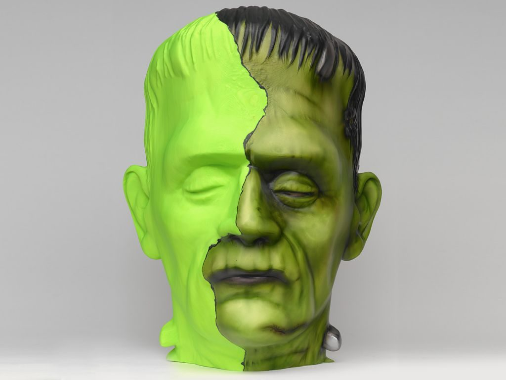 Creative-Frankenstein-Head